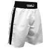 FIGHT-FIT - Box Shorts / Weiss-Schwarz / Large